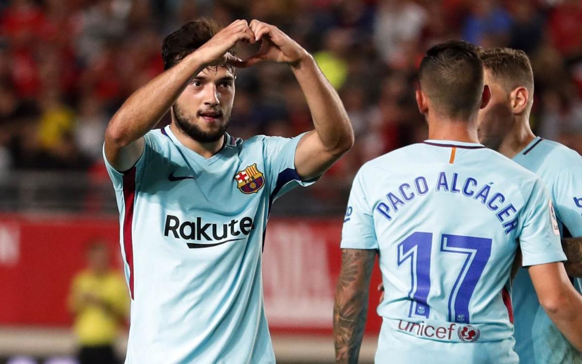 Jose Arnaiz scores in Barça debut