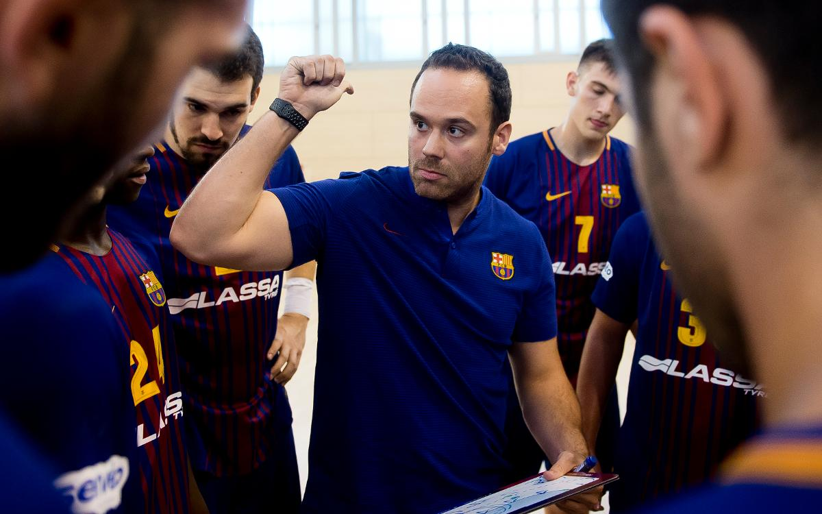 Barça Lassa B – Amenabar Zarautz (28-27): Treballat triomf a la Ciutat Esportiva