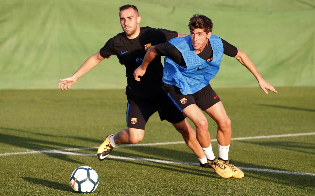 First session of the week with Atlético on the horizon