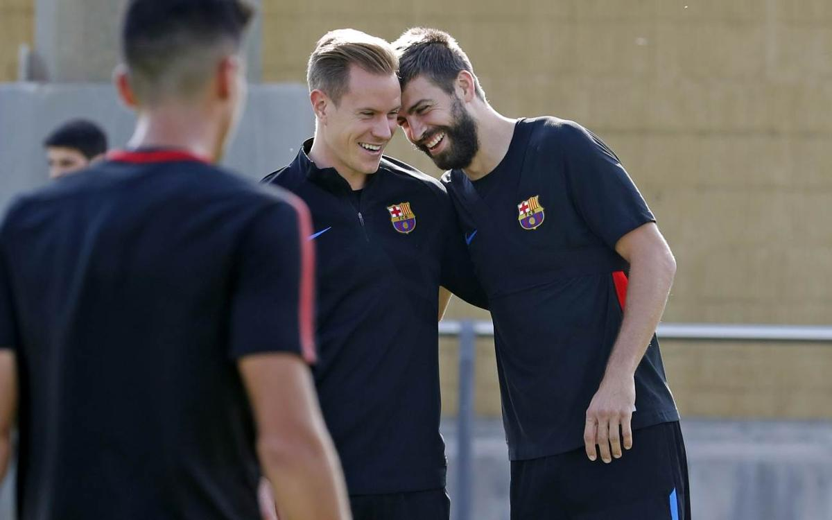 Piqué and Ter Stegen return to training