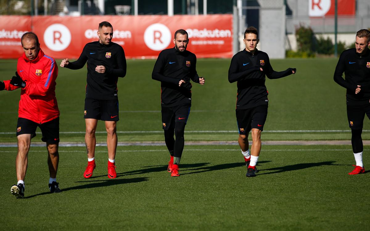 Barça train for the final time this week