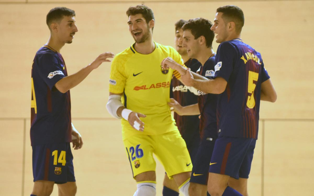 Barça Lassa B - Noia Portus Apostoli (7-1): Buen juego y eficacia
