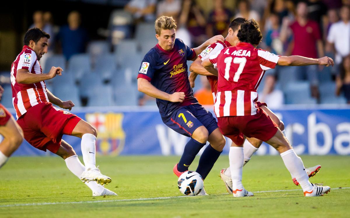Los Barça B - Almería, sinónimo de goles y espectáculo