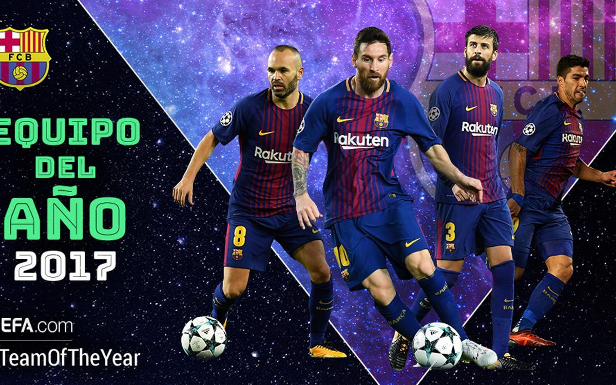 Quatre blaugranes candidats a l'XI de l'Any de la UEFA