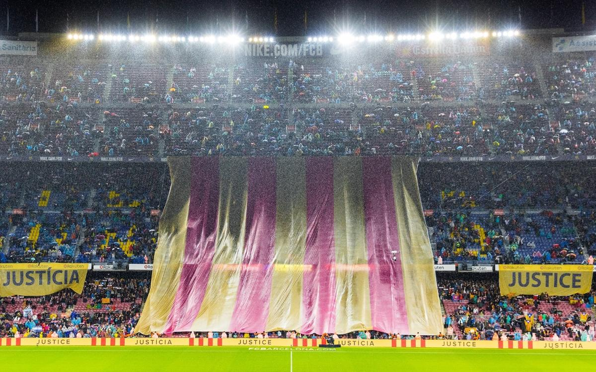 Noche de reivindicación en el Camp Nou