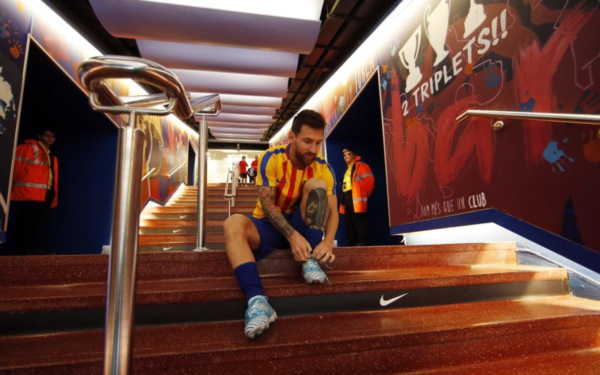 Les meravelles de Lionel Messi als escalfaments