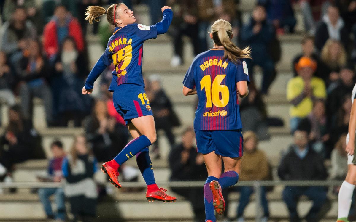 Barça Women - Madrid CFF: Bàrbara's rout (7-0)