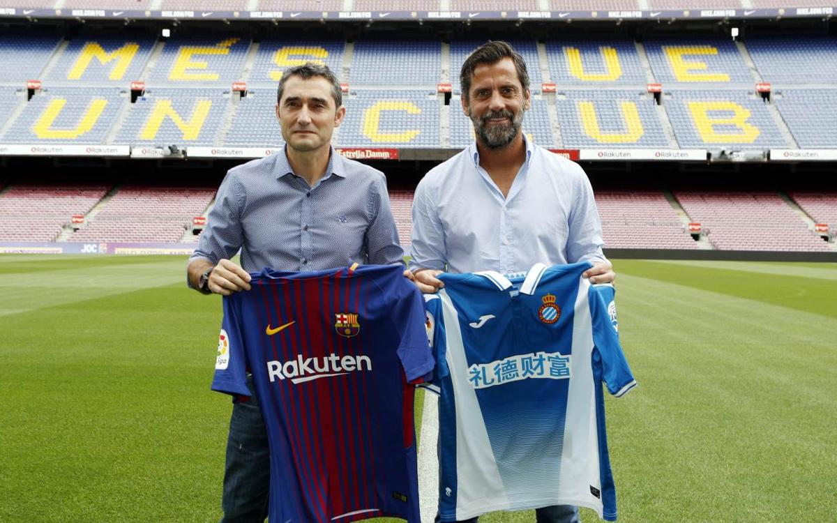 Meeting between Ernesto Valverde and Quique Sánchez Flores ahead of the derby