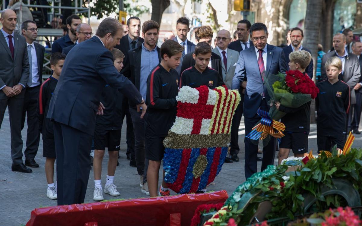 El FC Barcelona celebra la Diada Nacional de Catalunya del 2017