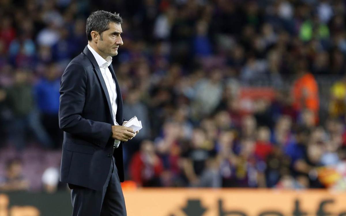 """Ernesto Valverde: """"Estem contents pel resultat"""""""