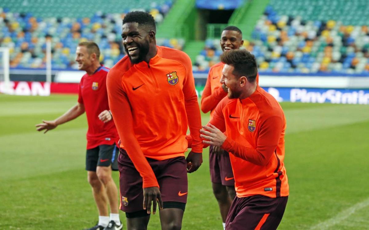 Vidéo - Les coulisses du premier jour du FC Barcelone à Lisbonne