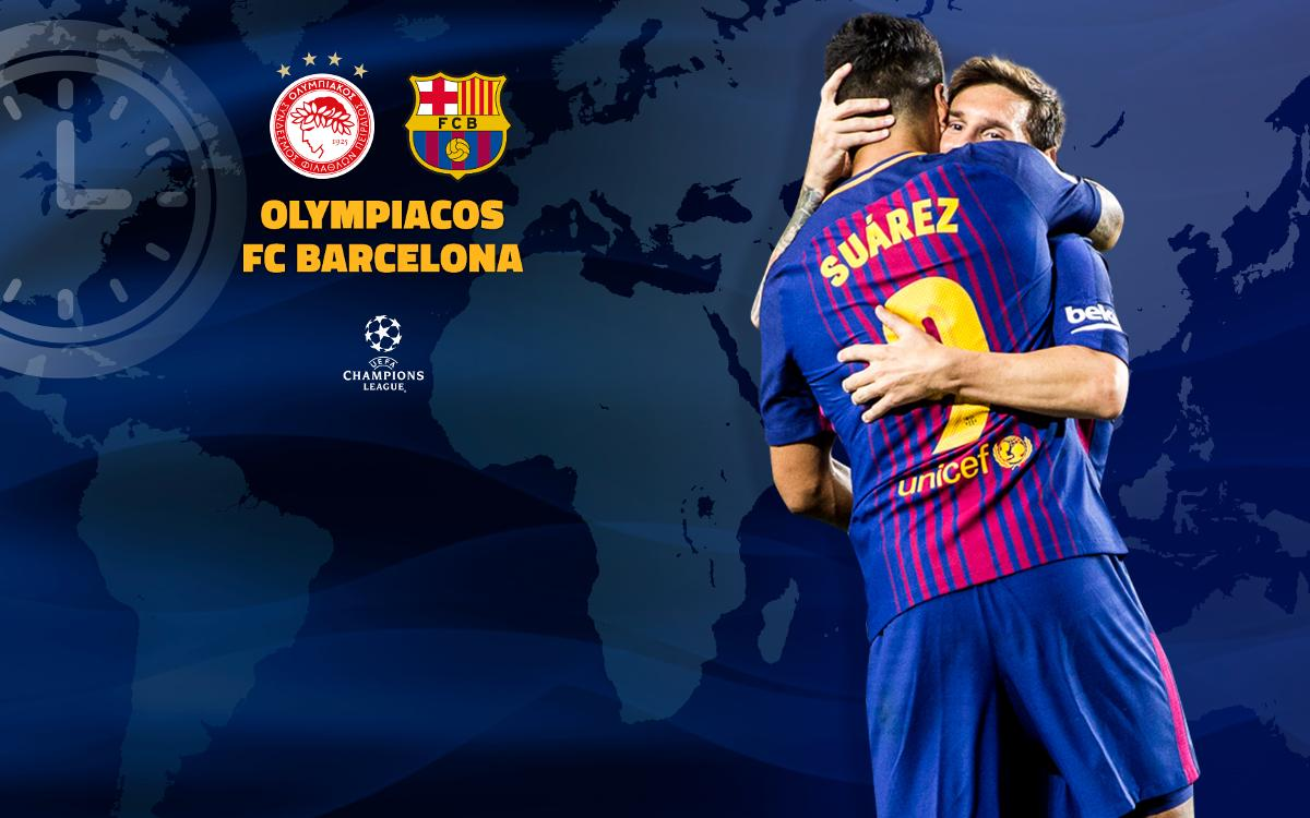 When and where to watch Olympiacos – FC Barcelona