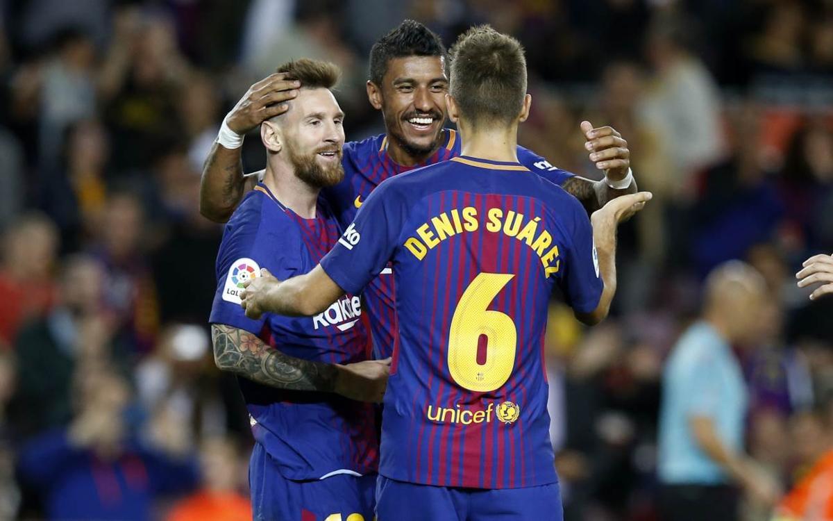 FCバルセロナ – SD エイバル: 止まらないメッシのゴールフェスティバル (6-1)