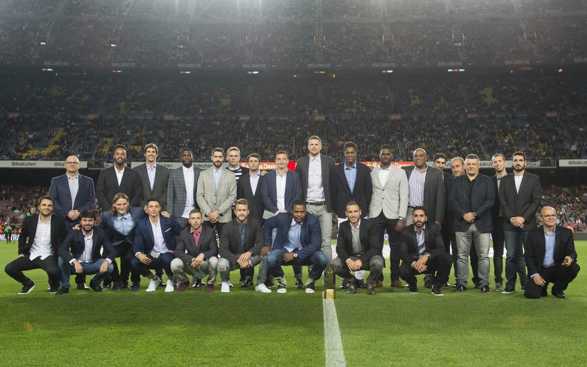 Reconocimiento del Camp Nou por la Super Globe