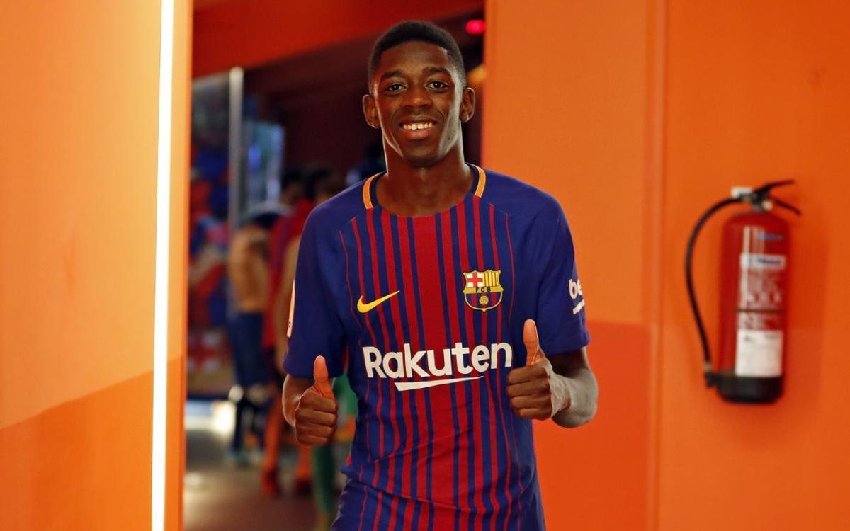 Vídeo - Les coulisses des débuts de Dembélé avec le FC Barcelone