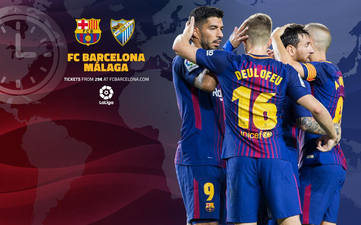 When and where to watch FC Barcelona vs Málaga