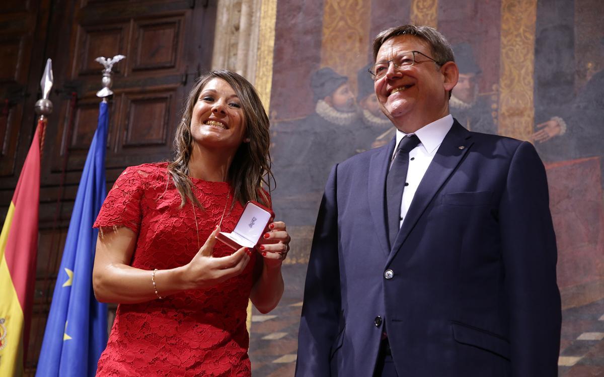"""Ruth García, amb la seva Medalla al Mèrit Esportiu: """"Immensa felicitat"""""""
