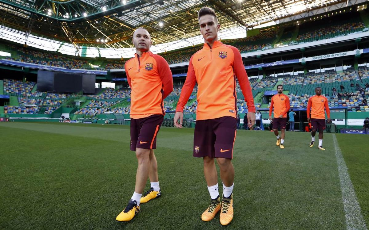 Behind the scenes of Barça's first day in Lisbon