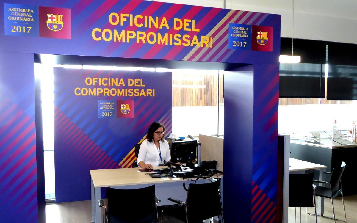 Oberta l'Oficina d'Atenció al Compromissari