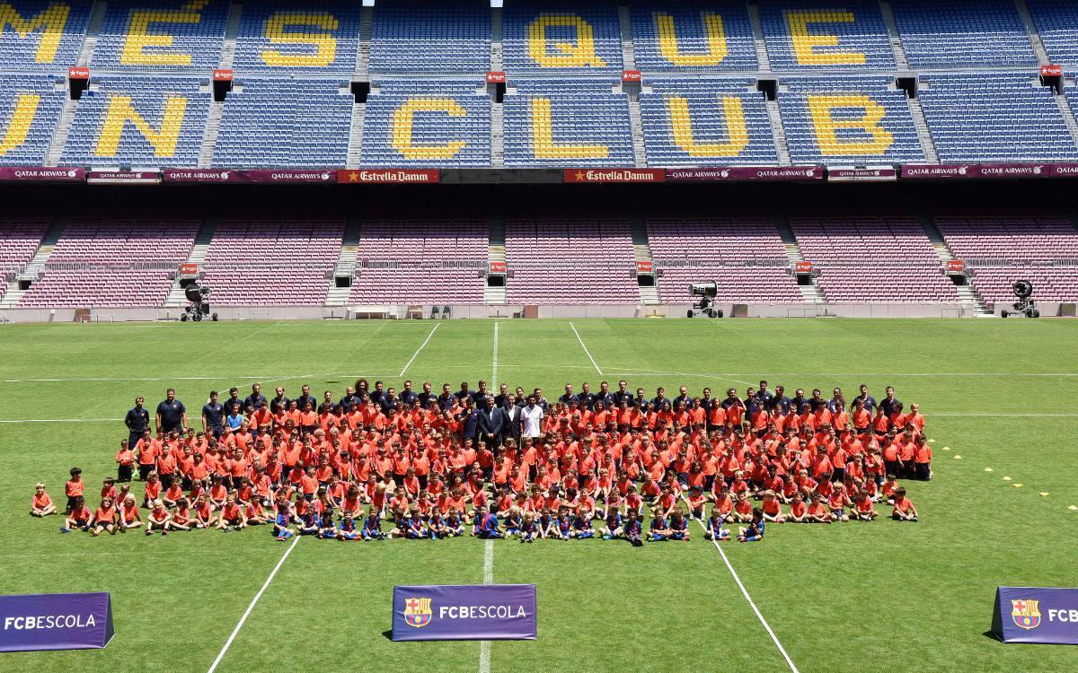 El Camp Nou, escenari de l'última jornada de la temporada de l'FCBEscola Barcelona