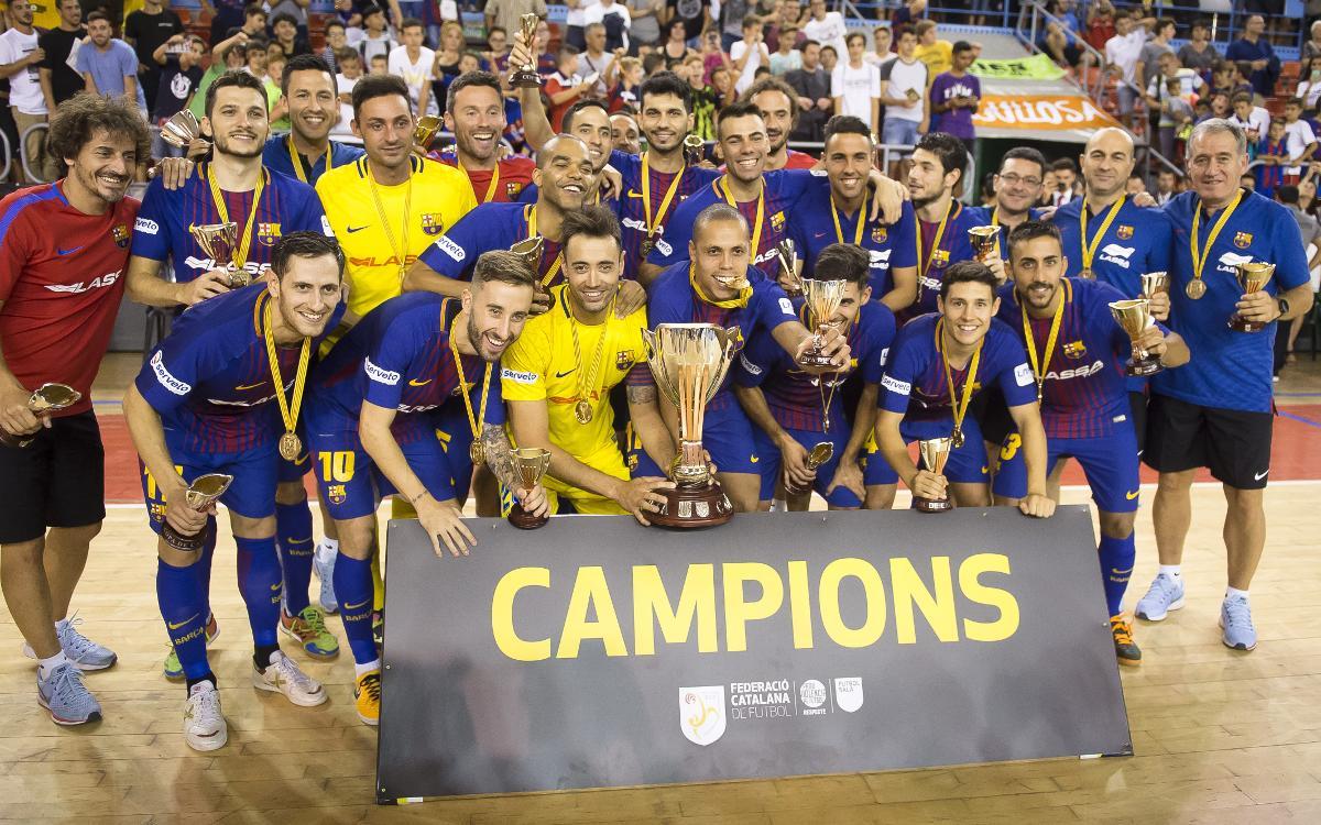 FC Barcelona Lassa - Catgas Energía Santa Coloma: ¡Campeones de la Copa Catalunya! (3-1)