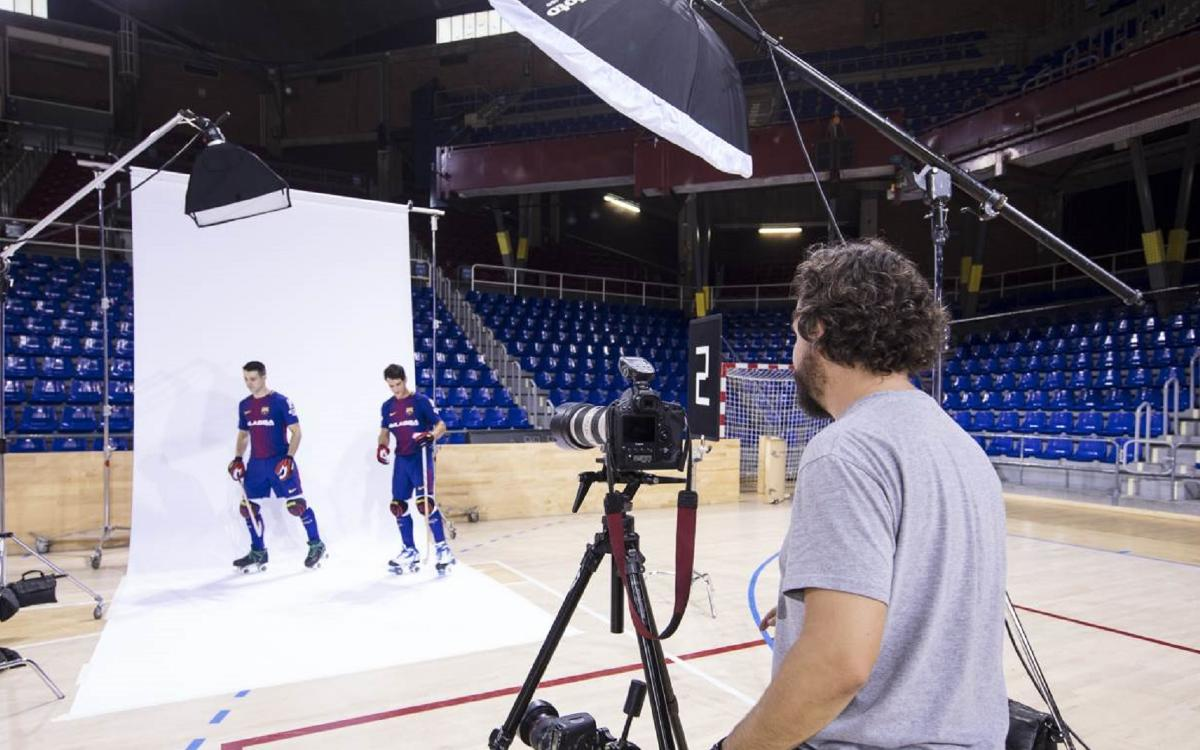 El 'making of' de la sesión de fotos del Barça Lassa