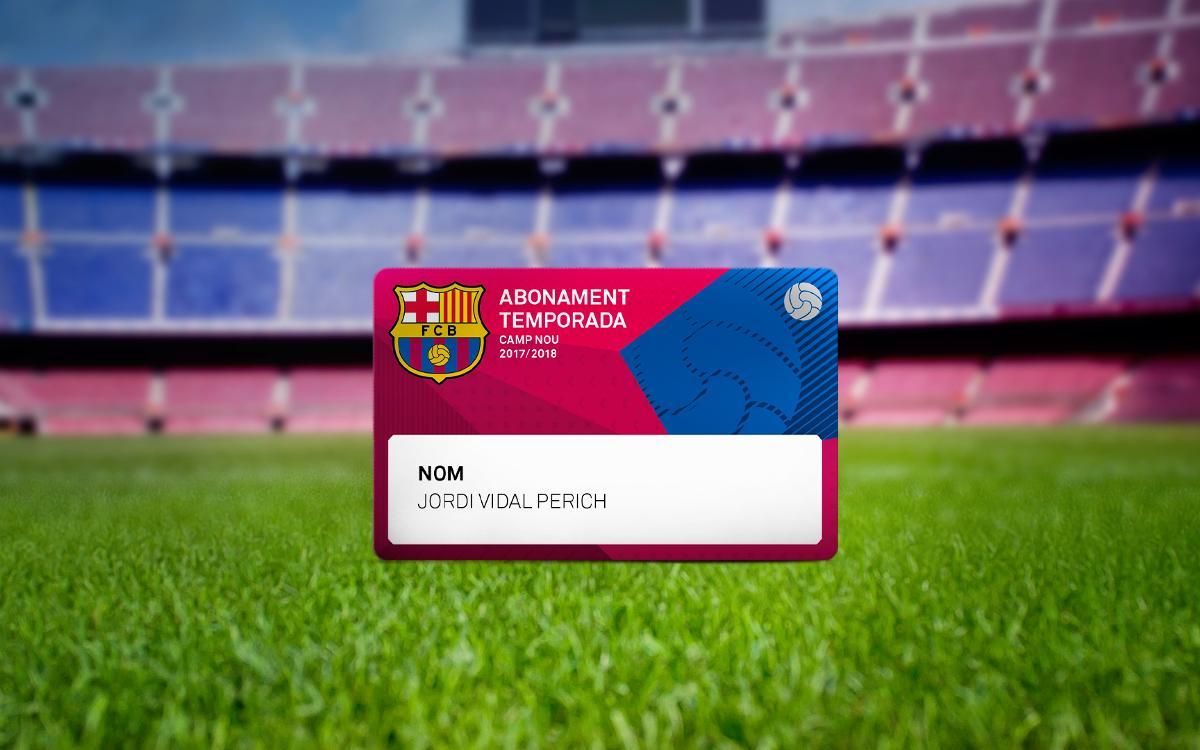 El nou abonament 2017/18, obligatori per al proper partit al Camp Nou