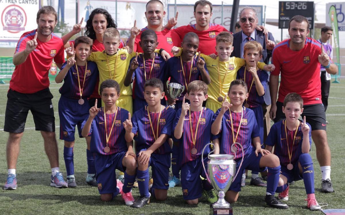 El Benjamín A golea al Real Madrid en la final de la Tres Cantos Cup (5-1)