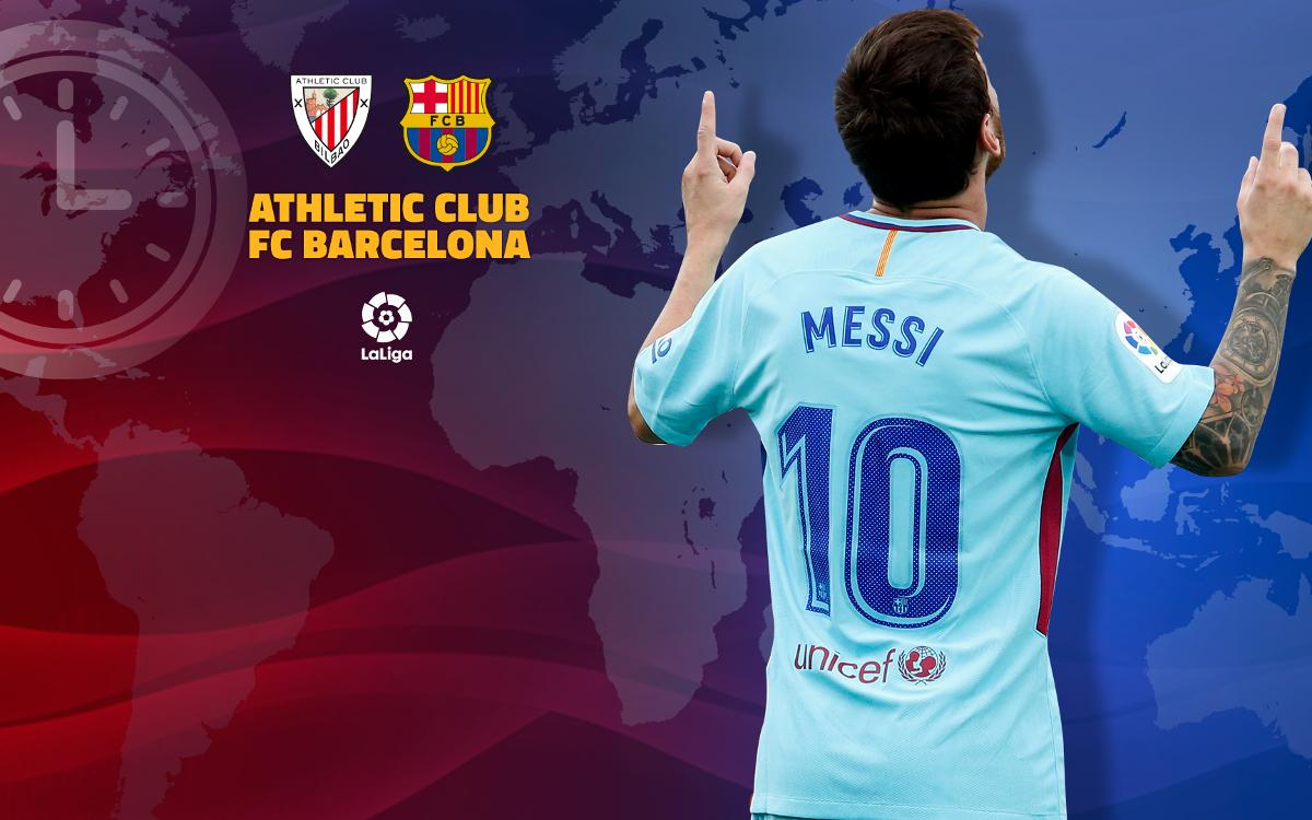 When and where to watch Athletic Club v FC Barcelona