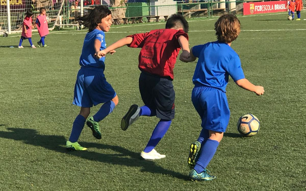 La Fundació FC Barcelona y la FCBEscola Rio de Janeiro organizan la primera jornada FutbolNet