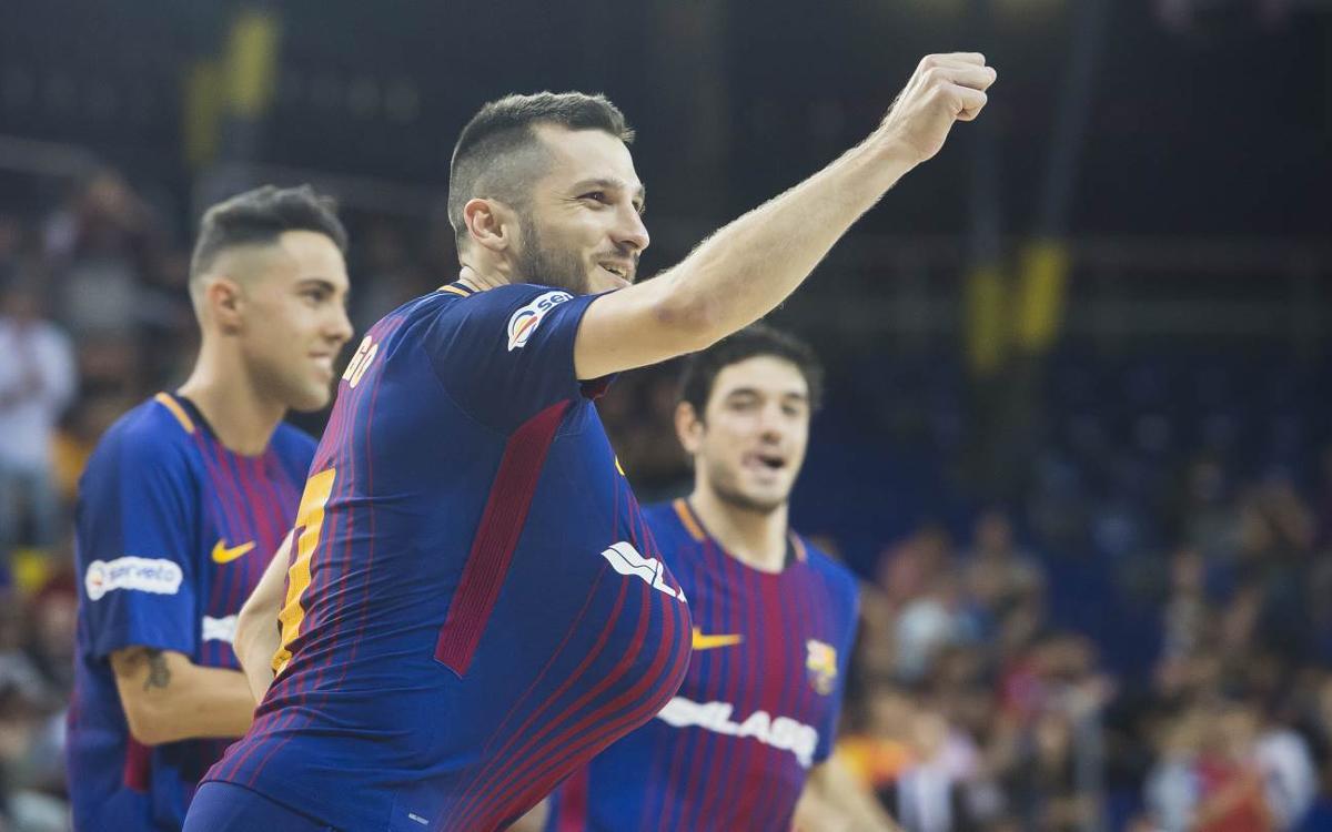 FC Barcelona Lassa - Palma Futsal: Los azulgrana cumplen en el estreno en el Palau (6-3)