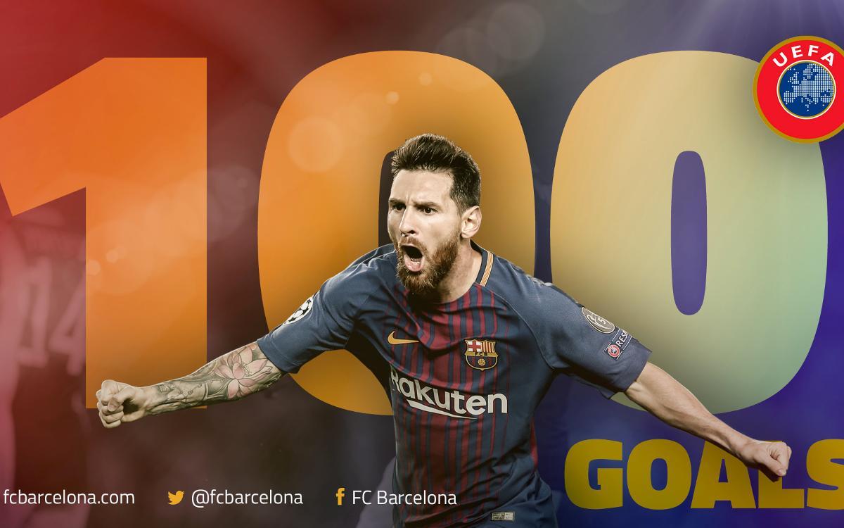 Leo Messi inscrit 100 buts en compétitions européennes