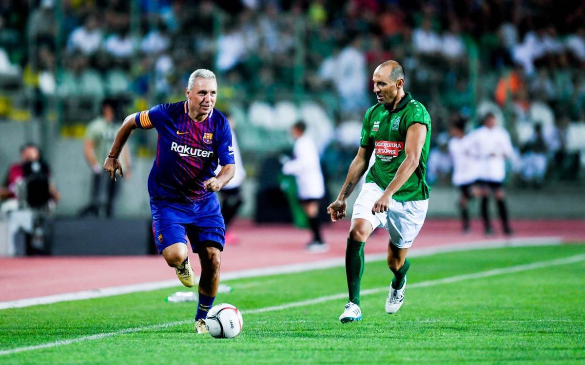[MATCH REPORT] Friends of Stoichkov - Barça Legends: Goals and spectacle in Bulgaria (3-2)