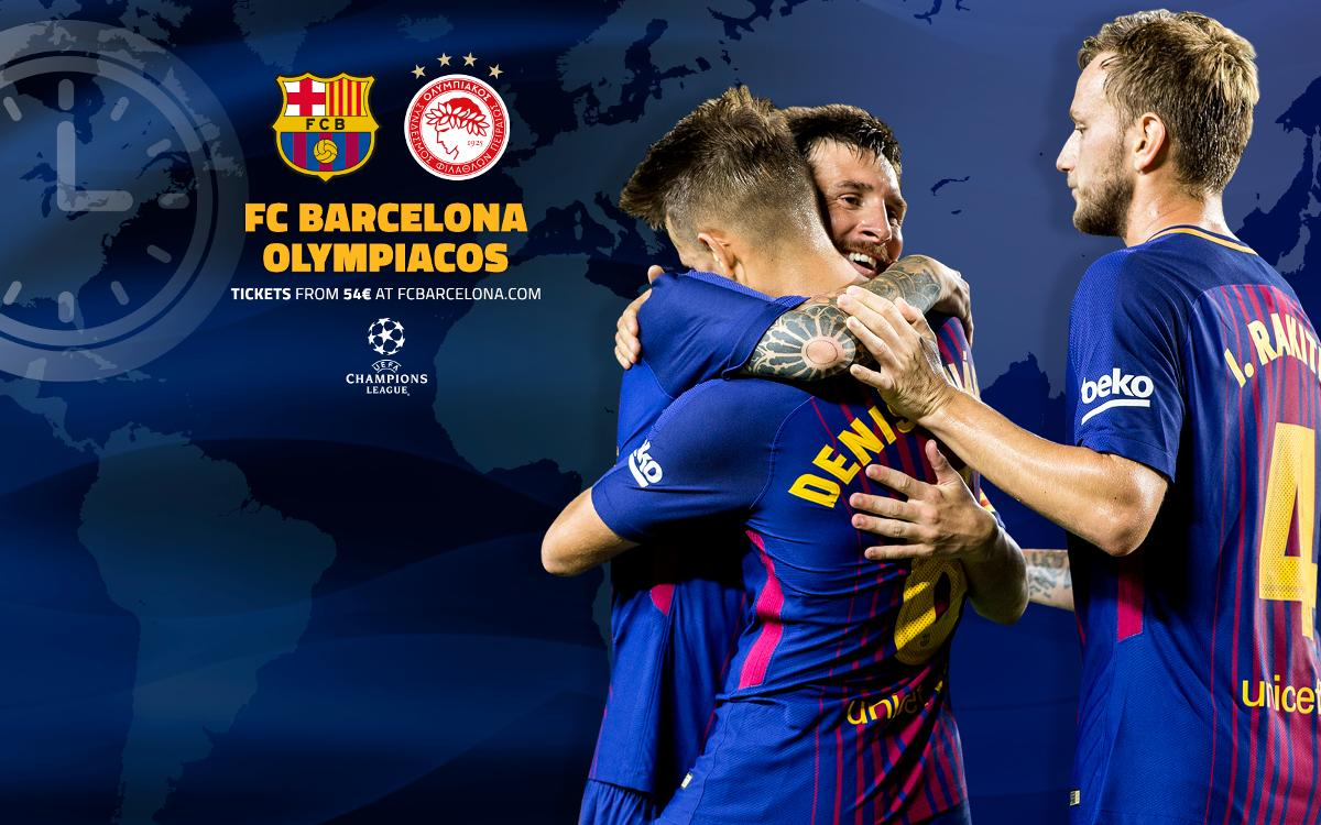 When and where to watch FC Barcelona v Olympiacos