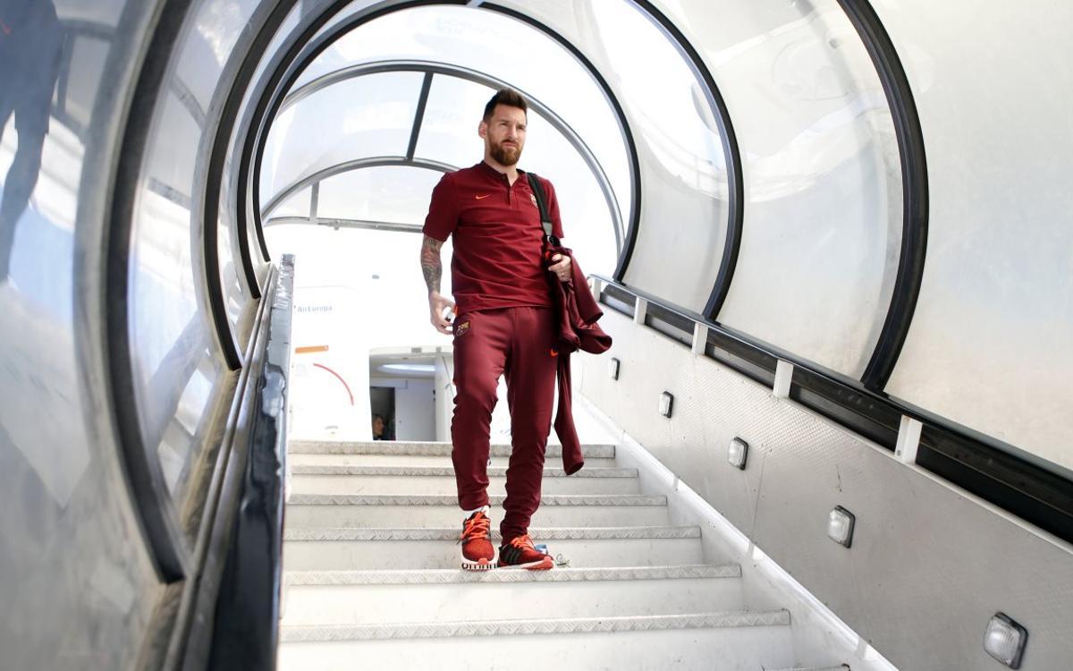 El Barça ya está en Lisboa