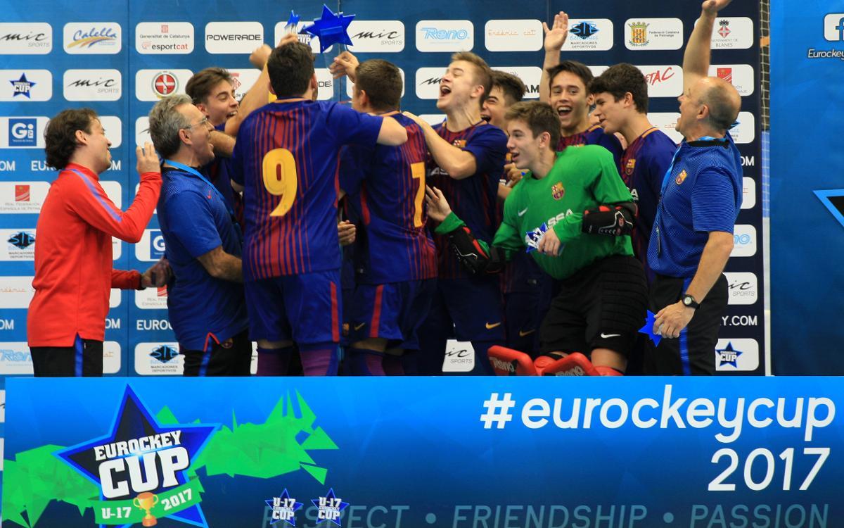 Barça 6-3 Follonica: Campeones del Eurockey U17