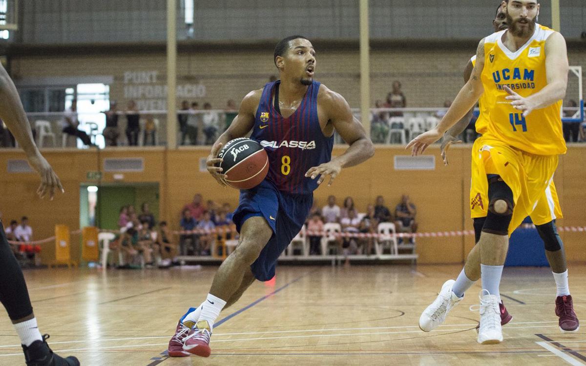 Barça Lassa-UCAM Murcia: Victoria en el último segundo (72-70)
