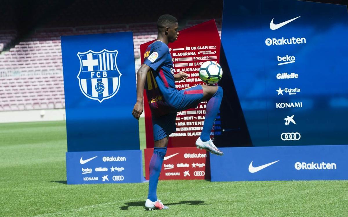 """Ousmane Dembélé: """"És un plaer poder jugar amb el millor de la història del futbol"""""""