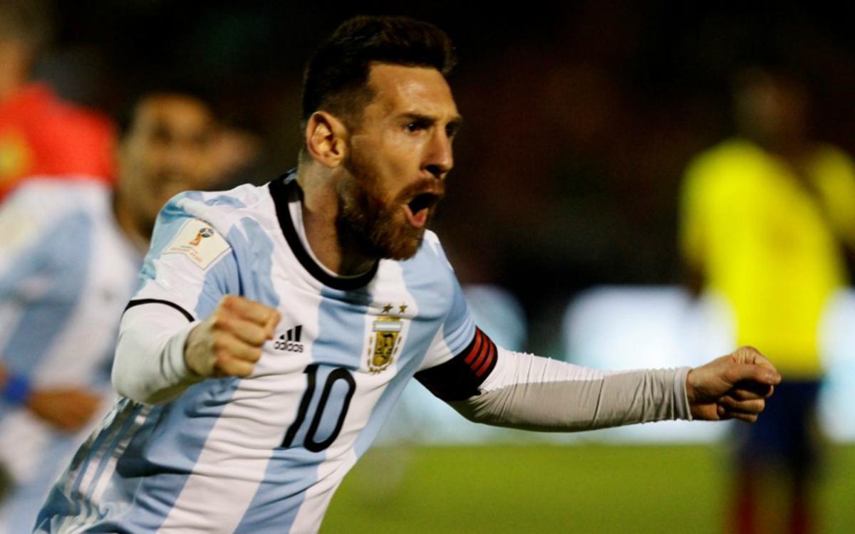Un Messi celestial classifica l'Argentina per al Mundial de Rússia 2018