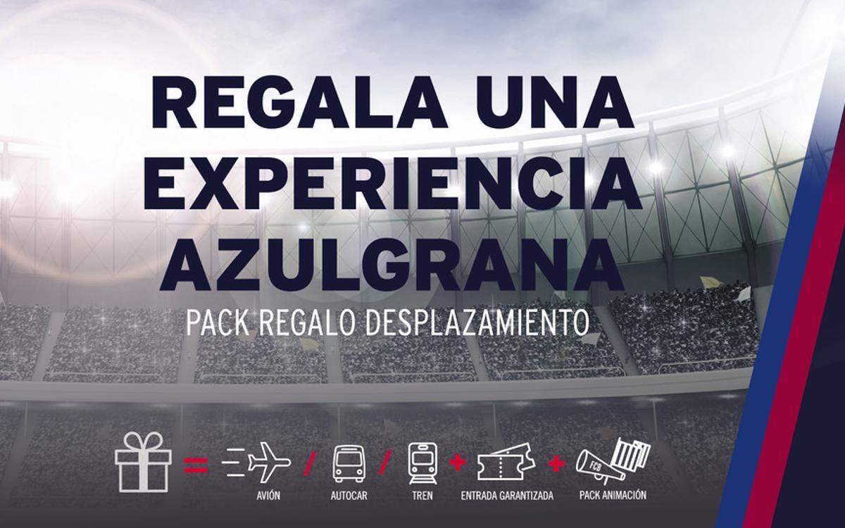 Regala la experiencia de seguir el Barça con FCBDesplaçaments