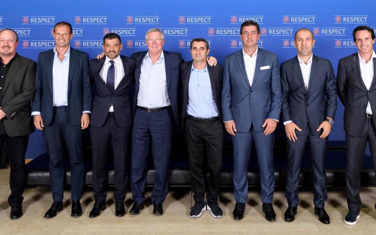 Ernesto Valverde, en el Foro de Técnicos de la UEFA
