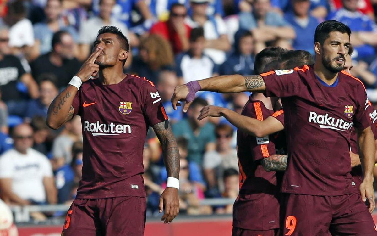 Debut goal for Paulinho with FC Barcelona