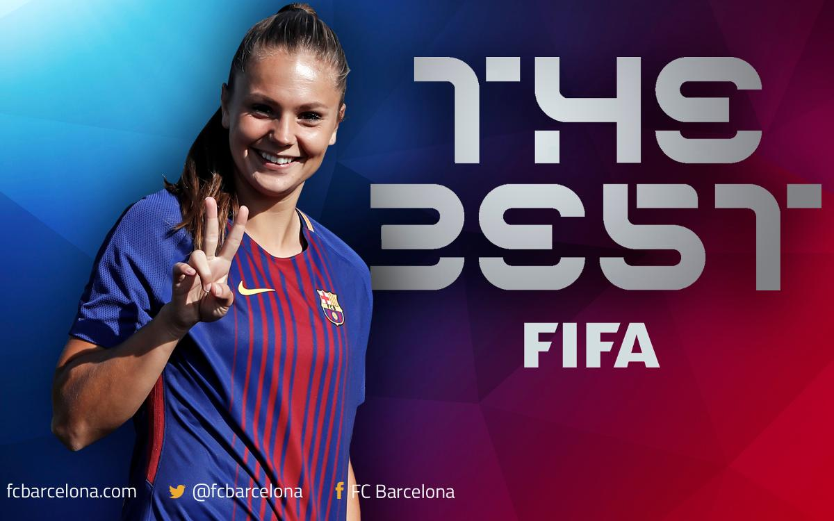 Lieke Martens wins the prize for The Best FIFA Women's Player 2017