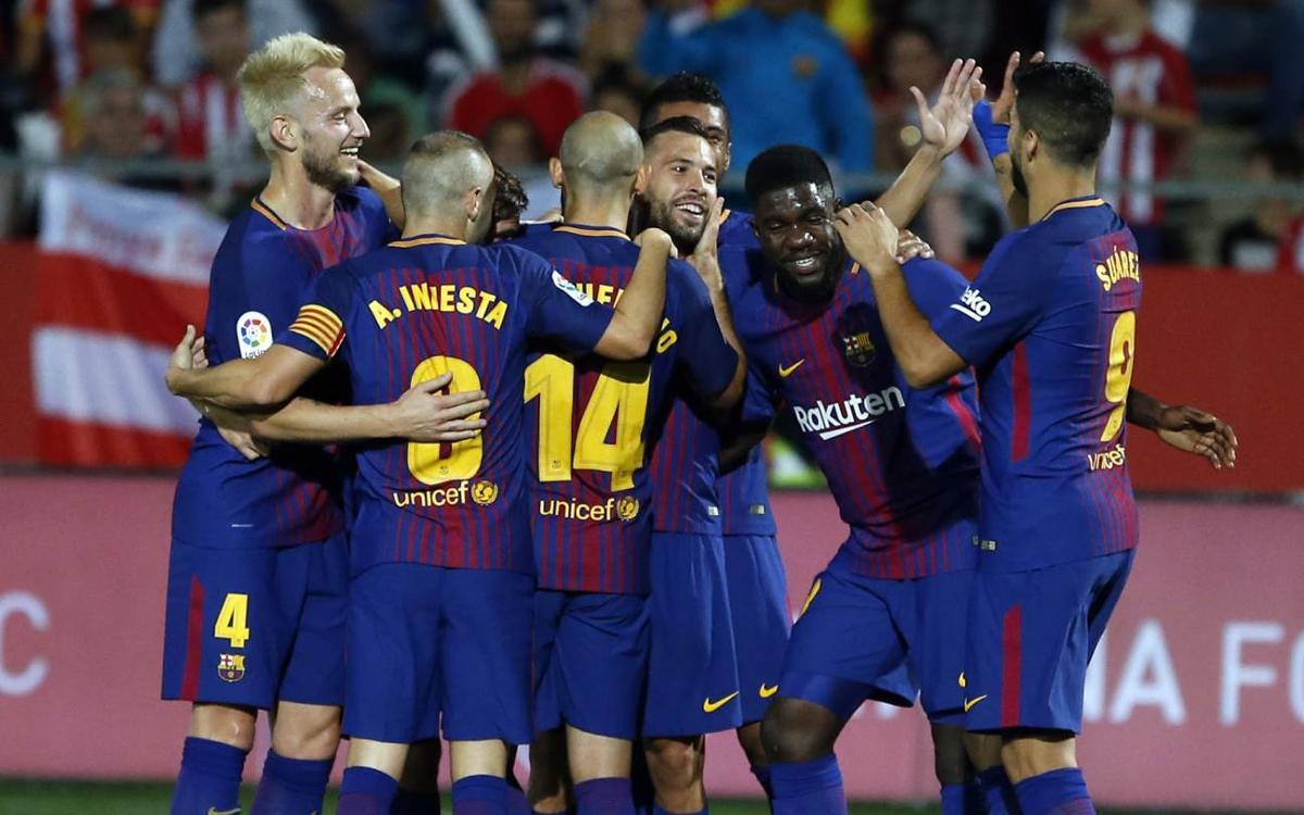 ジローナ—FCバルセロナ:首位チームが好調維持(0−3)