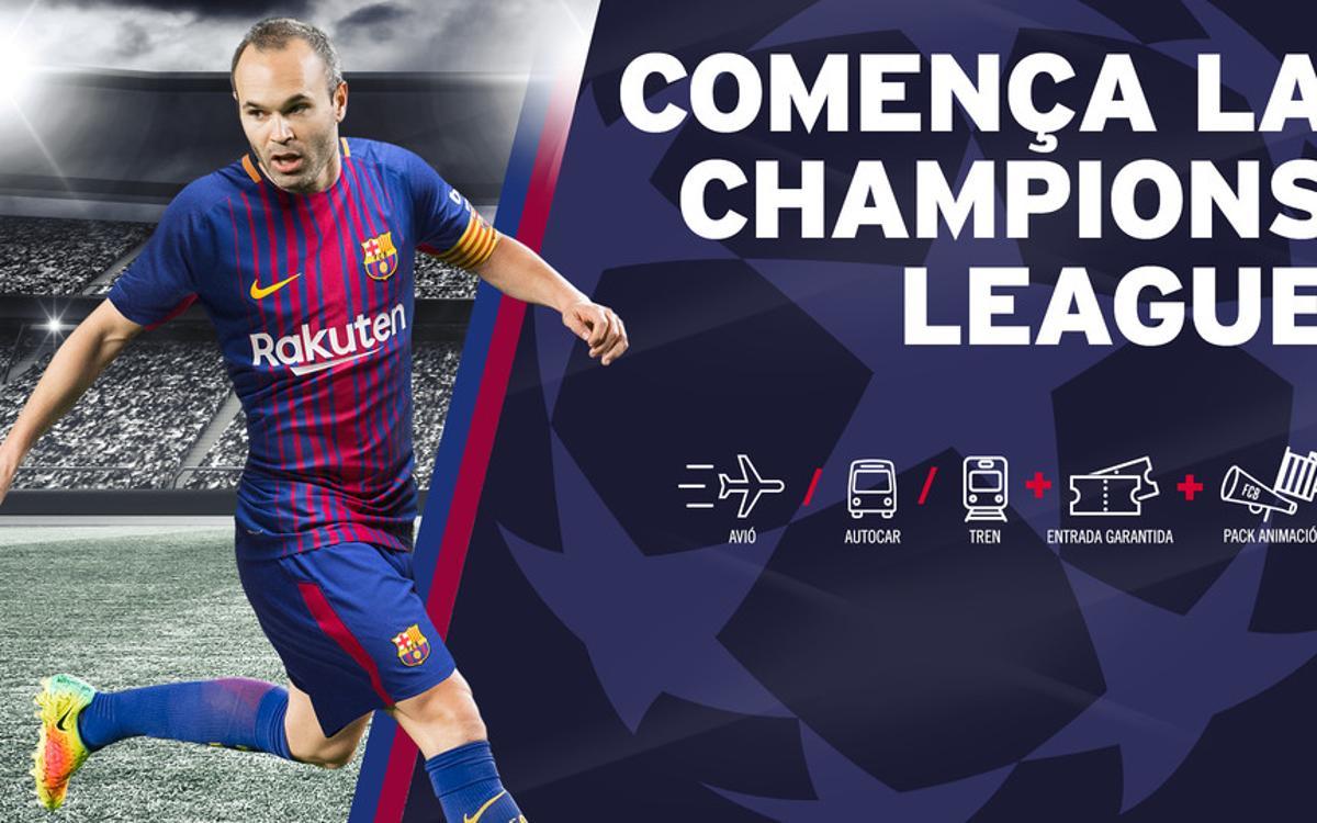 Más FCBPunts para los socios que adquieran dos viajes de la Champions