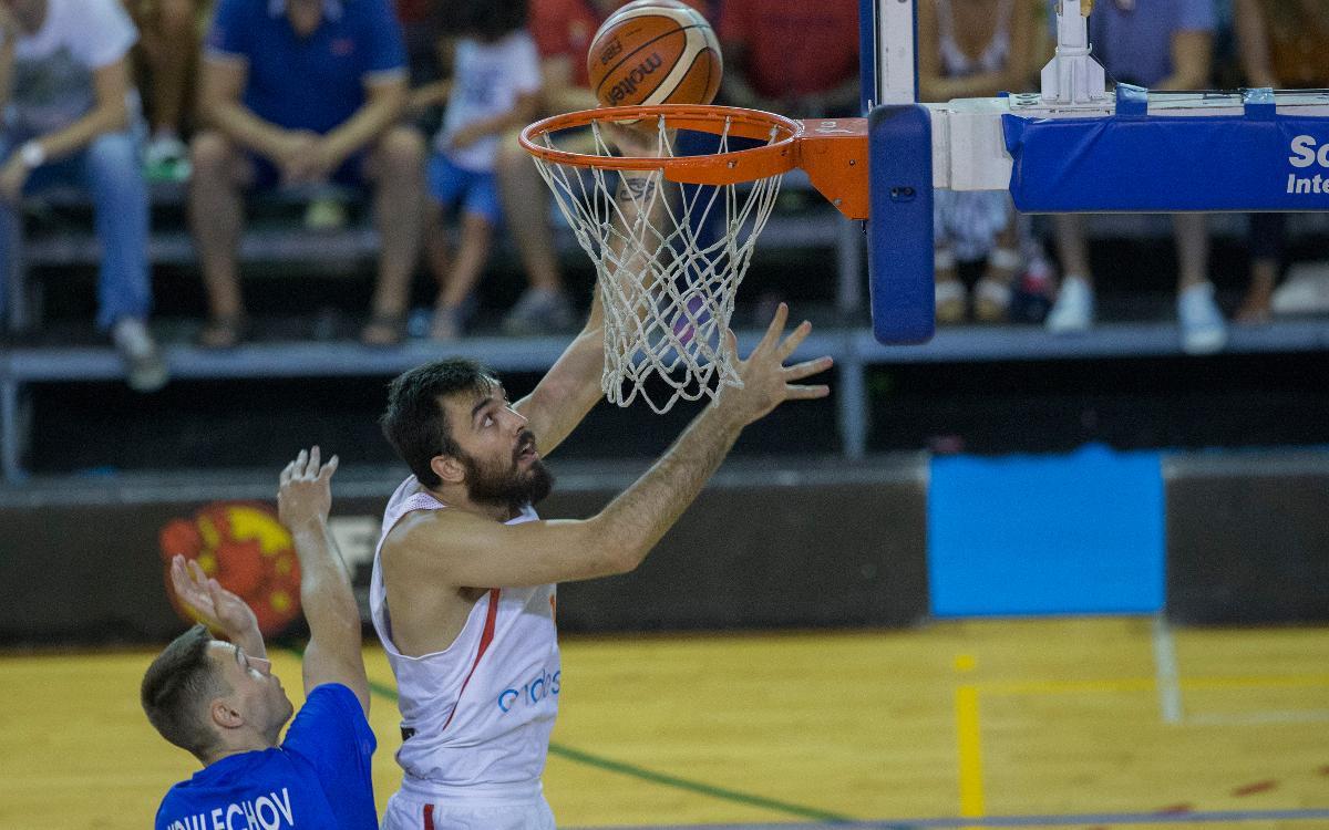 Pierre Oriola, a la segona concentració de la selecció espanyola