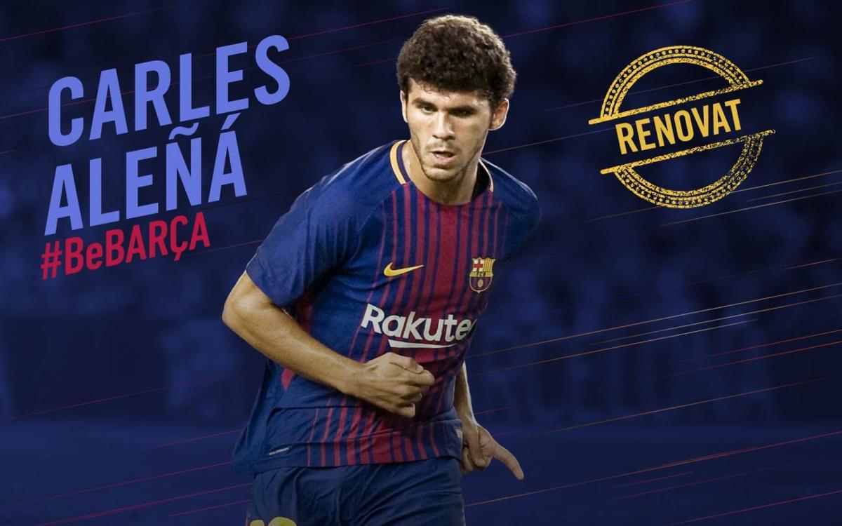 Carles Aleñá signa la renovació del seu contracte