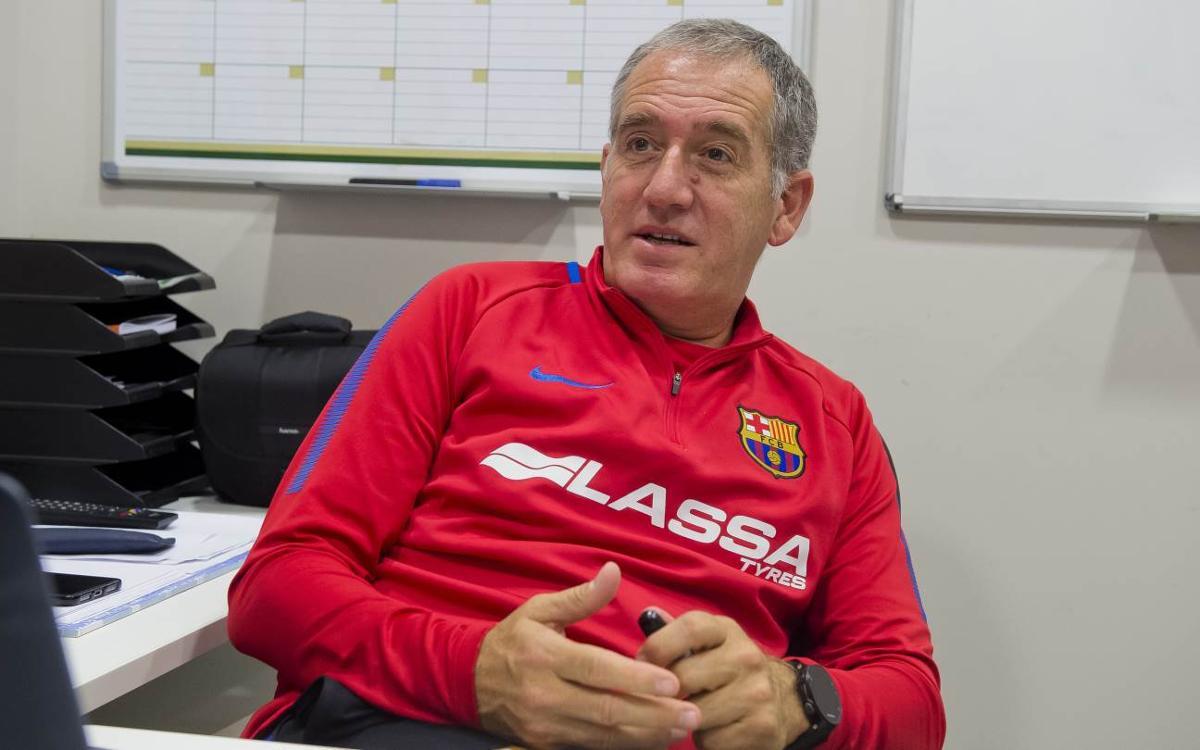 """Andreu Plaza: """"La Lliga ens va quedar pendent i és el títol que més volem"""""""