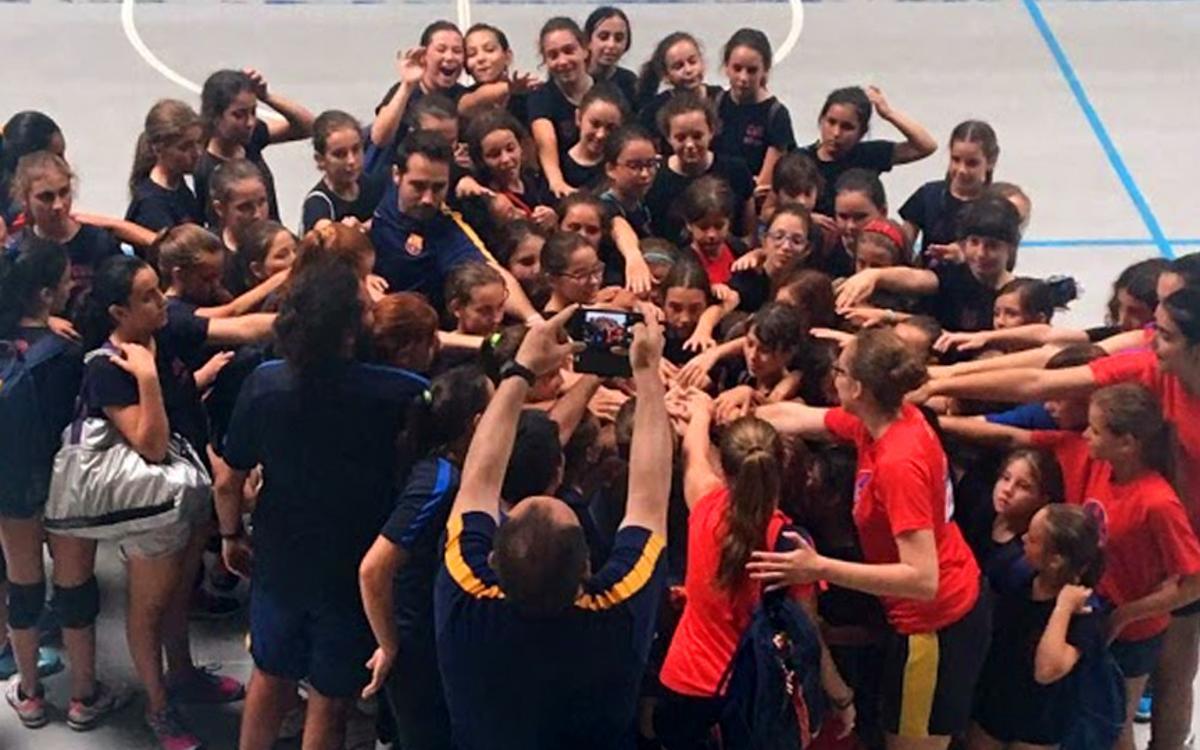 El CVB Barça, escollit com el millor planter femení