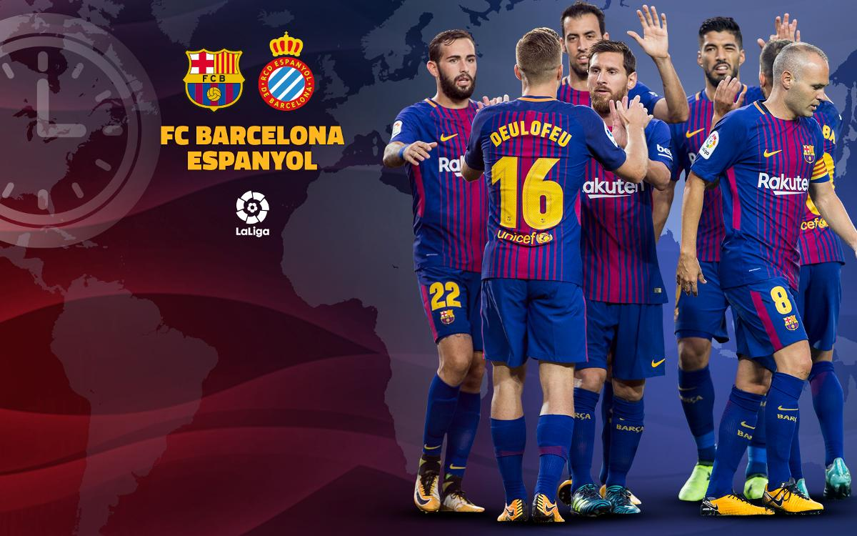 When and where to watch Barça v Espanyol
